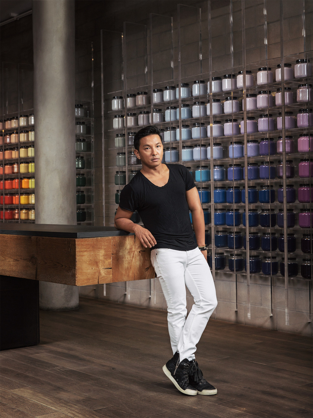 wmagazine :       Prabal Gurung on his new makeup collection for MAC  .    Photograph by Dustin Aksland; W magazine November 2014.