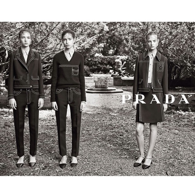 fordmodels :     More from #FordImage's Moya (@_moyap_) for @Prada FW14! #fordmodels