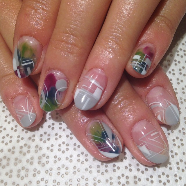 vanityprojectsnyc :     @mikutsutaya #handpainted #nailart #gelnail #vanityprojects (at Vanity Projects)