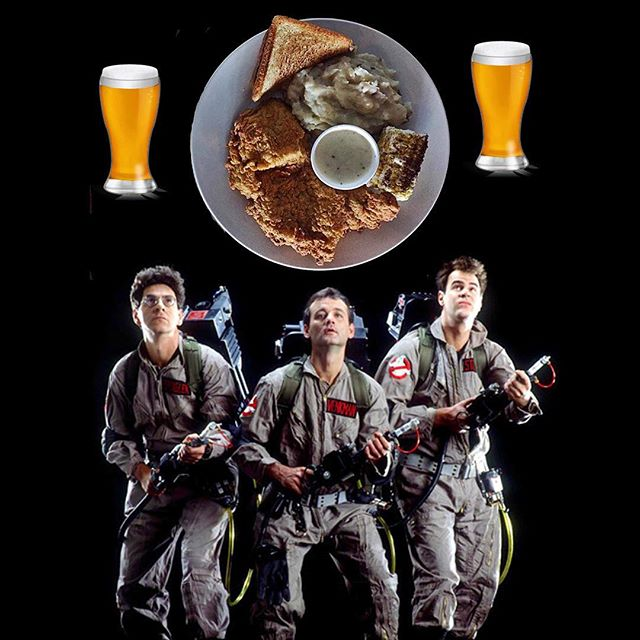Chicken fried steak night!! We'll be showing Ghostbusters and Ferris Bueller's Day Off at 8pm! Join us!