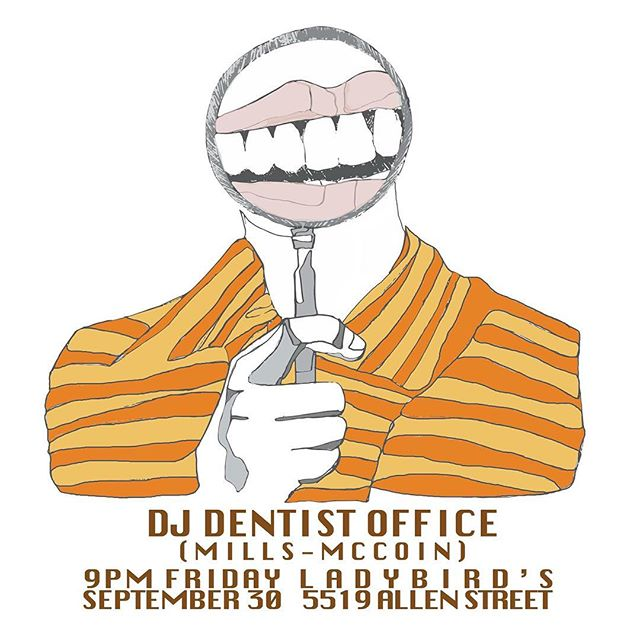 DJ Dentist Office tonight! Come in for a glorious mix of Toto, Billy Ocean, Chicago and a ton of your favorite Dentist Office favorites. Don't miss!!