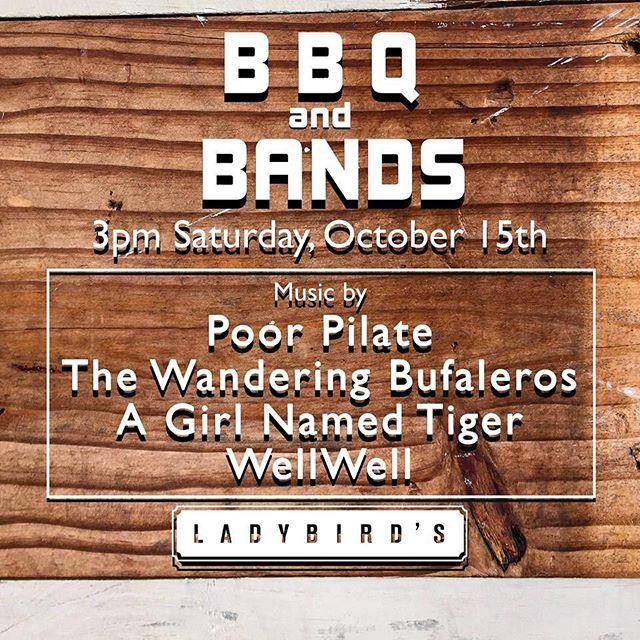 BBQ at 12noon. Bands at 3. No cover!