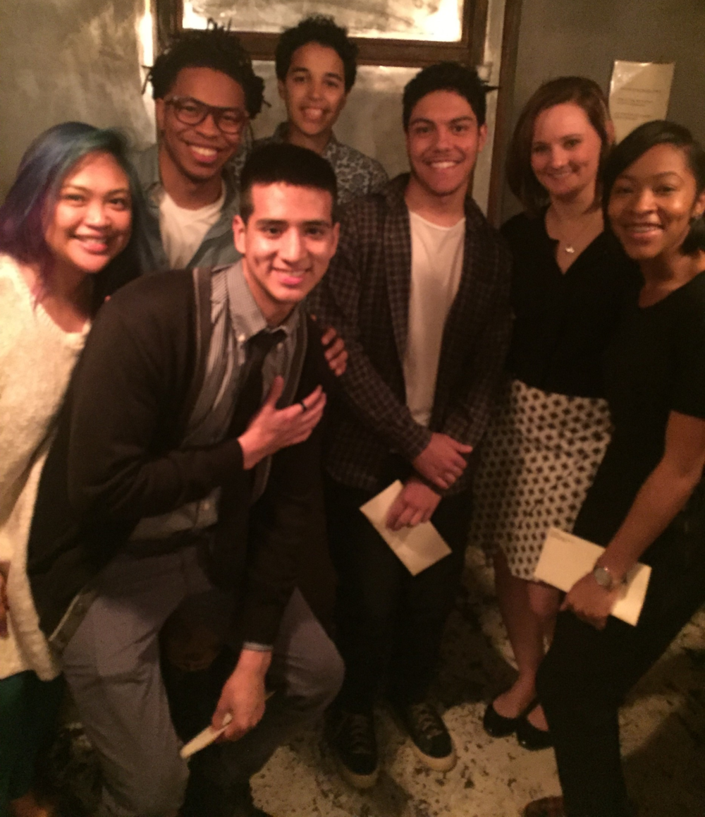 2016 scholarship recipients hesus fund staff members of the the posse foundation scholarship winners l to r