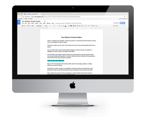 Webinar Templates — Webinar Rockstar