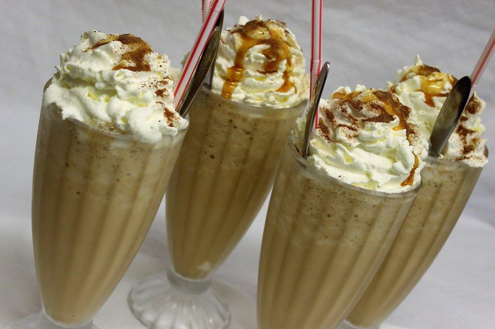 Du kan også vælge en lækker isdessert eller iskaffe -