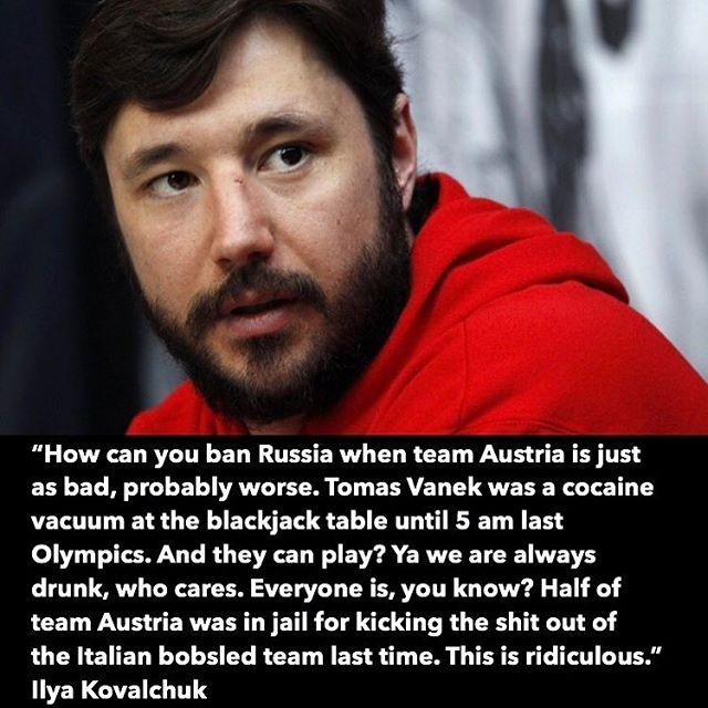 Kovalchuk not playing games 👀