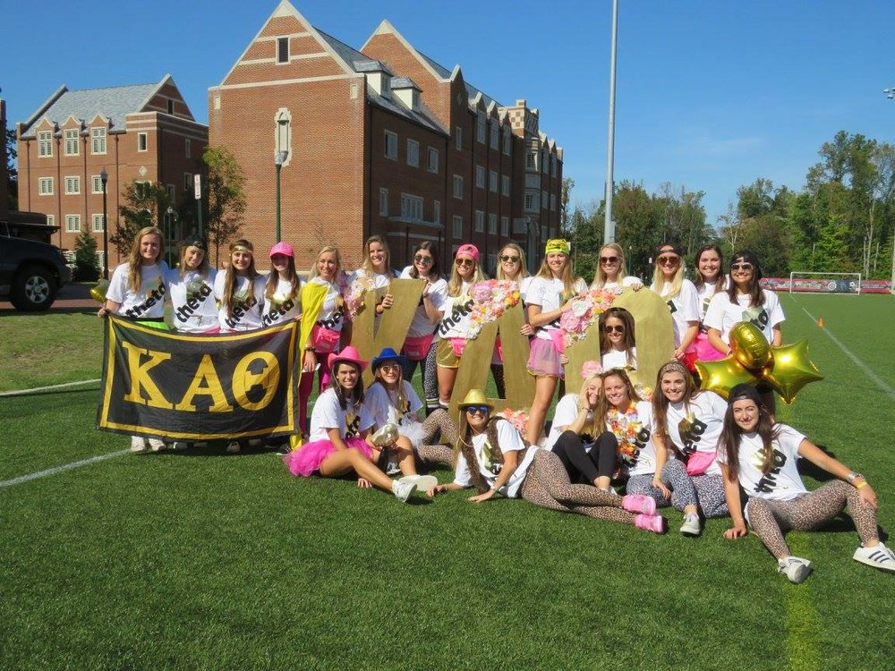 Our annual Capture the Kite event was a huge success and a lot of fun for our sisters. Twenty three teams competed in the capture the flag tournament, and while not on the field attendees enjoyed music, games and yummy food. Our chapter raised nearly $500 for the Jamie and Paige Malone Foundation, a scholarship fund started after the fatal car accident involving two Thetas during during their time at UR.