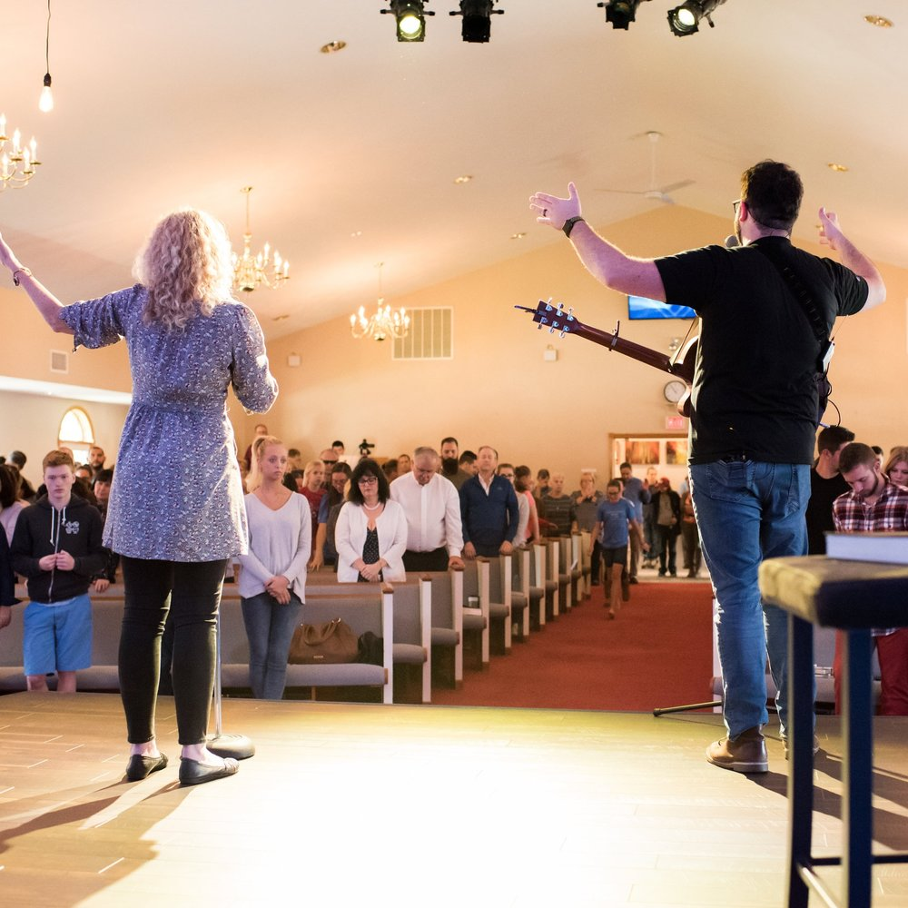 The Sanctuary - needs no introduction. It is our classic space for entering into worship on a Sunday morning. The worship and message are live, and the music never sounded as good as it does now on our new sound system.