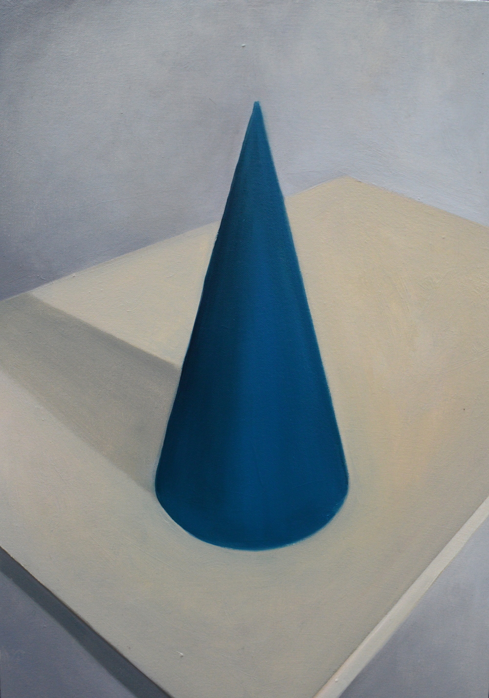 "Party Hat , oil on canvas, 20"" x 14"", 2014"