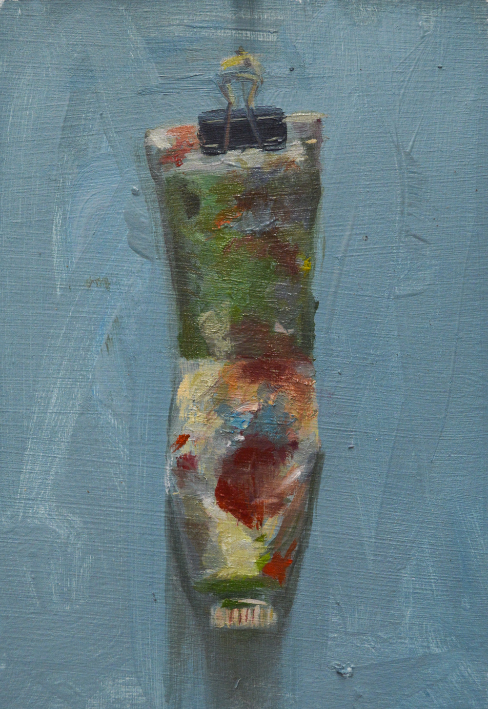 "sap green , oil on paper, 6"" x 4"", 2015"