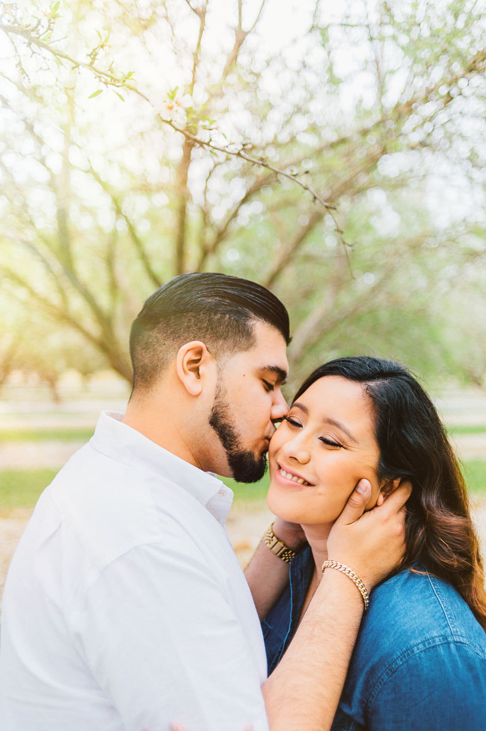 Almond Orchard Engagement Session  | Wilde Sparrow Photography
