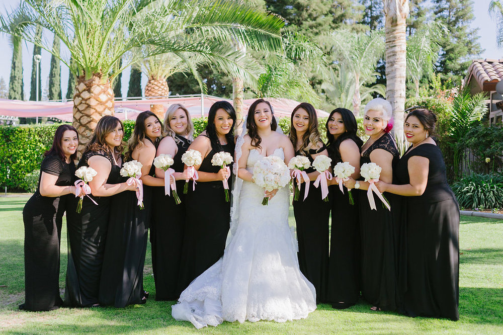 Large Wedding Party Photography Bakersfield