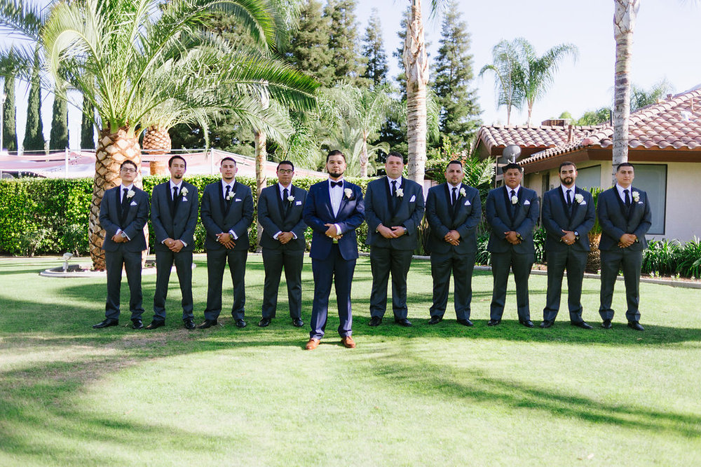 Large Groomsmen Party Group Wedding Photography