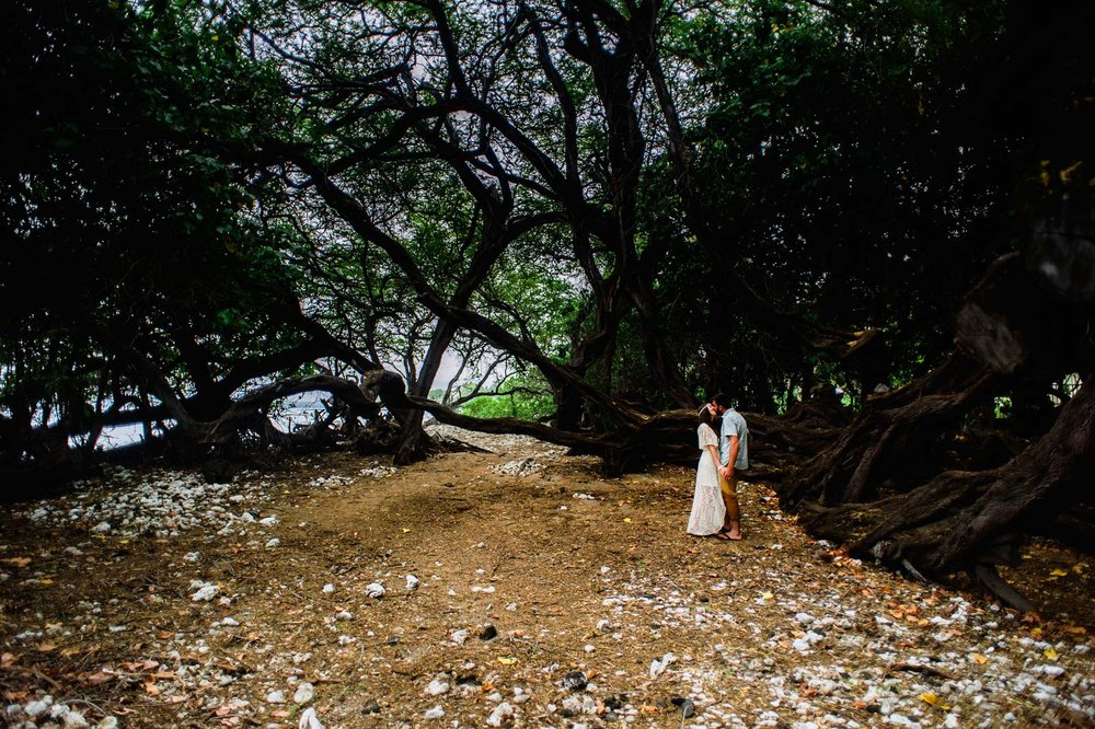 Puako Hidden Beach Engagement Photography