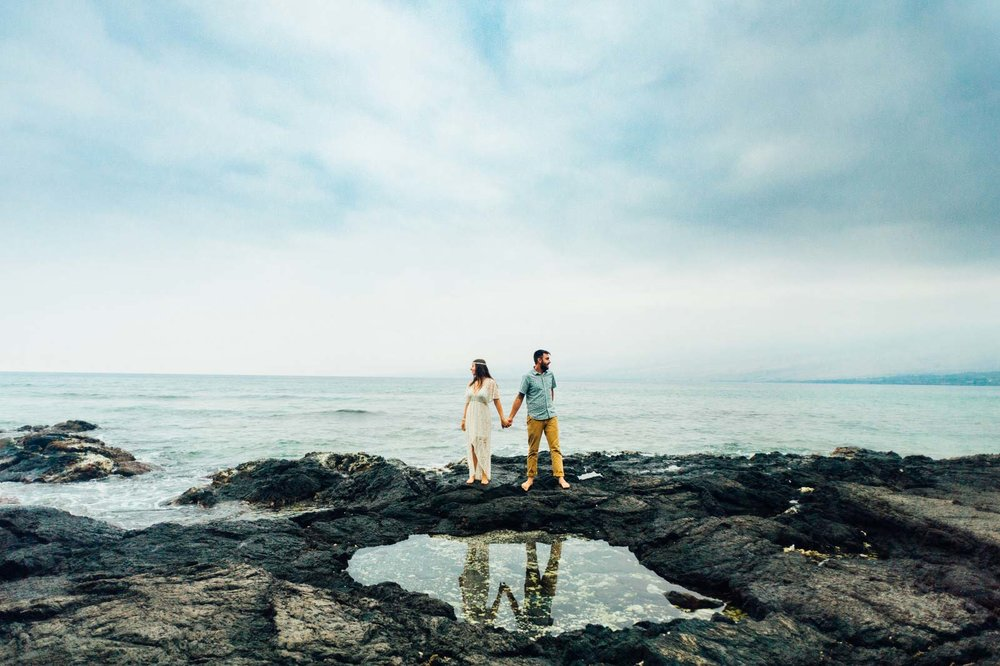 Waikoloa Beach Engagement Photography