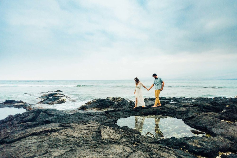 Waikoloa Beach Engagement Photographer Hawaii