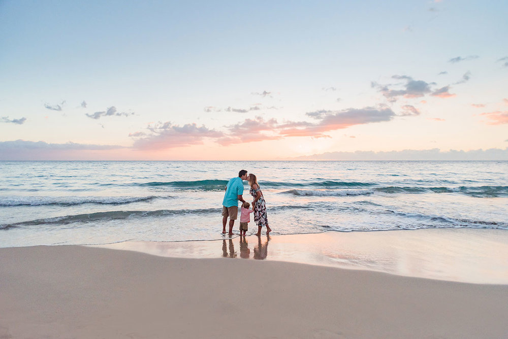 Waikoloa Sunset Beach Family Photographer Hawaii