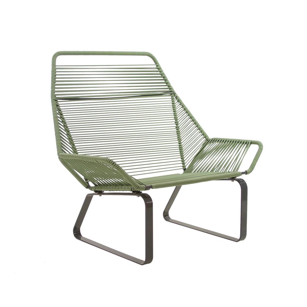 Cord Lounge Chair   Sage