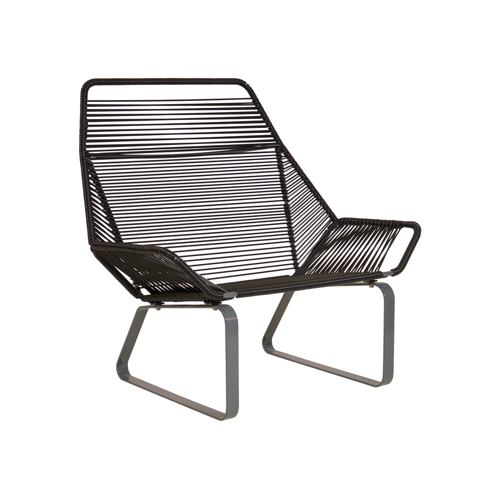 Cord Lounge Chair   Black