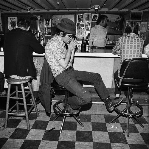 Harmonica Player, Merchant's Cafe, Nashville, TN, 1974