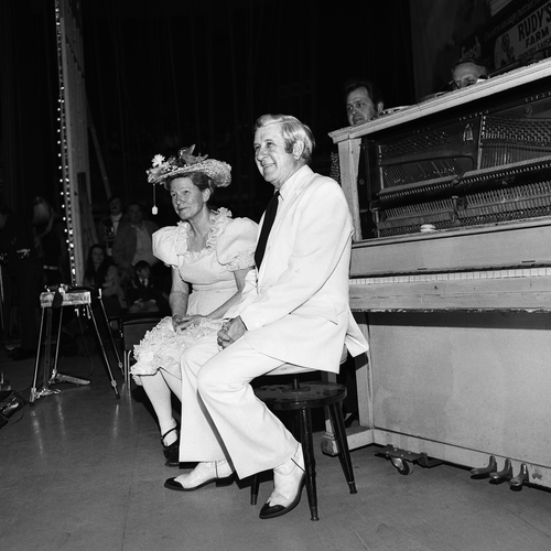 Minnie Pearl and Pee Wee King, Grand Ole Opry, Nashville, TN, 1973
