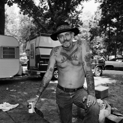Bluegrass Music Fan Frank Brown, Gettysburg, PA, 1974