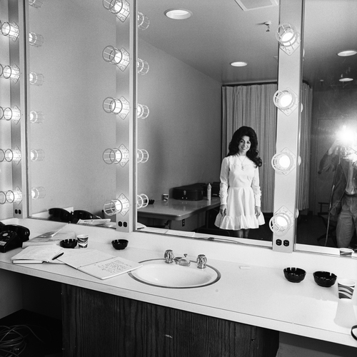 Carol Lee Cooper Backstage, Grand Ole Opry, Nashville, TN, 1974