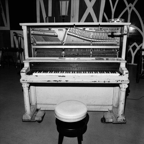 Piano Backstage, Ryman Auditorium, Nashville, TN, 1972