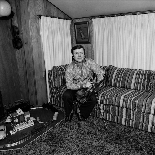 Fiddler Mack Magaha, at home, Nashville, TN, 1974