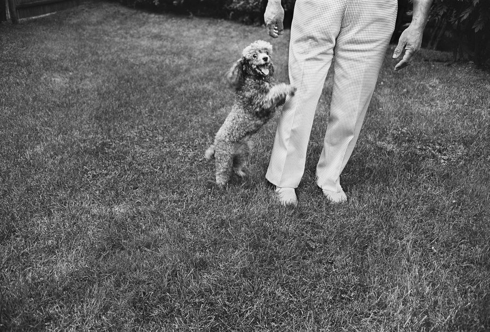 Chammie and Uncle George, Newton, MA, 1973