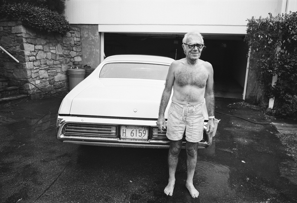 Dad Washing Car, Newton, MA, 1973