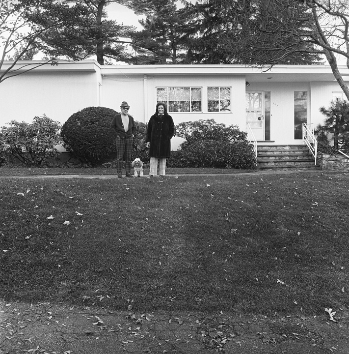 Dad, Chammie, and Mom, Front Lawn, Newton, MA, 1972