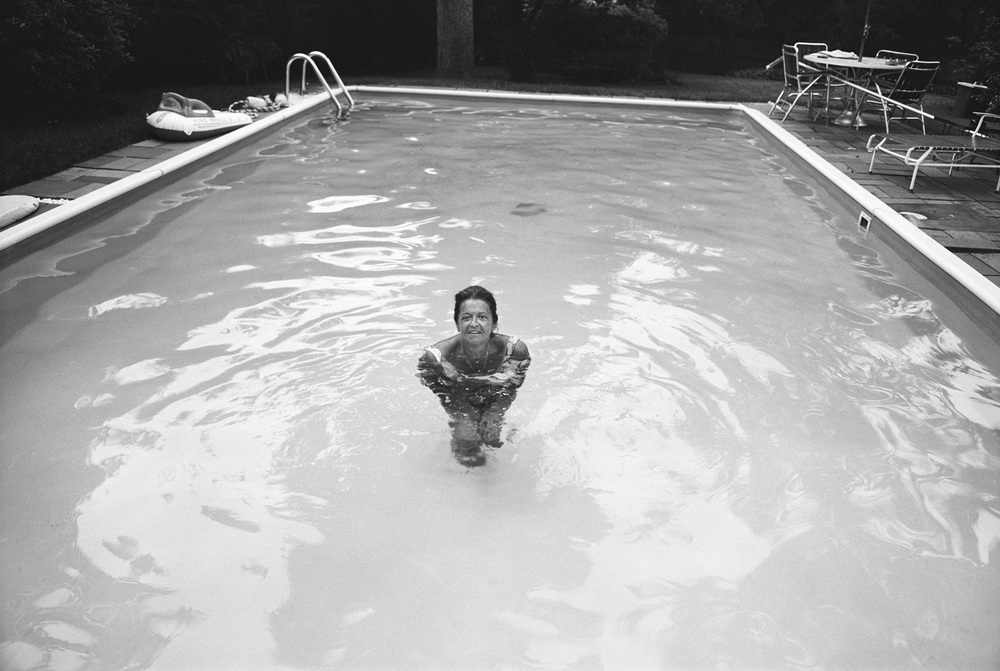 Mom, Backyard, Newton, MA, 1973