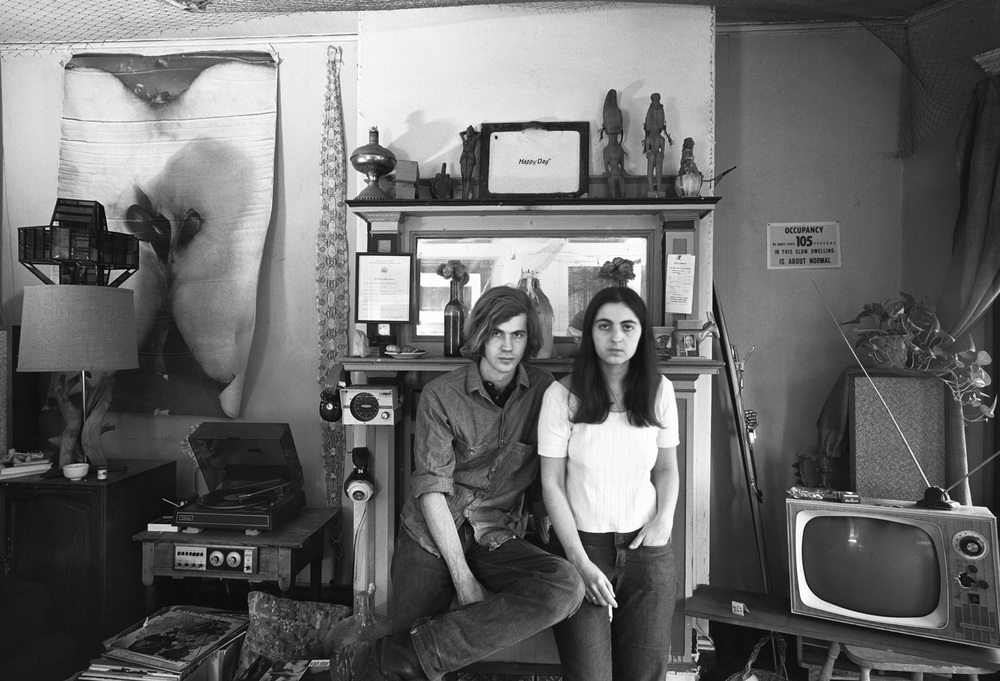 Dennis and Mary, Our Apartment, Cambridge, MA, 1971
