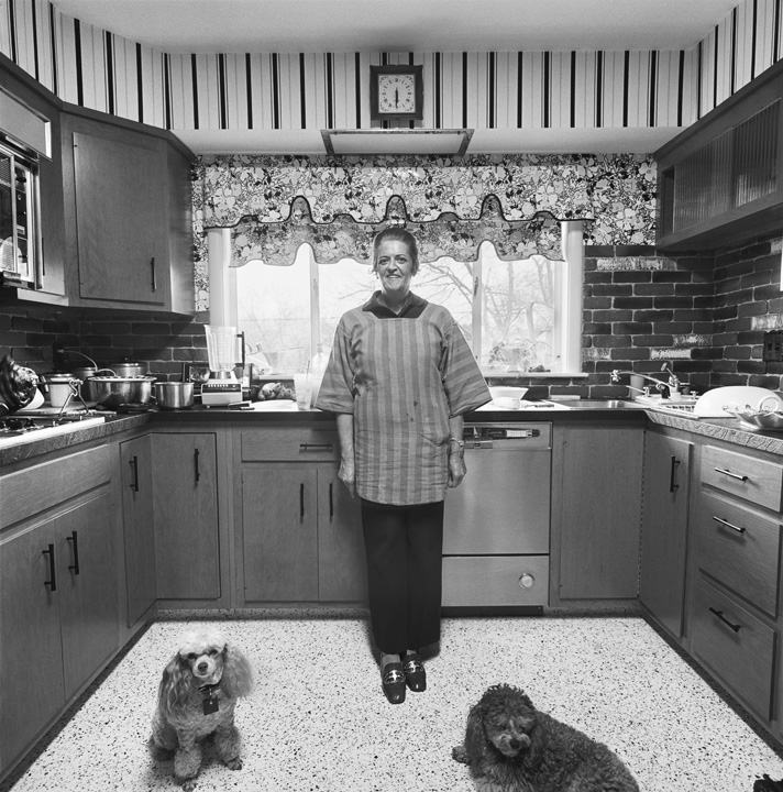 Mom, Chammie, and Studley, Kitchen, Newton, MA, 1971
