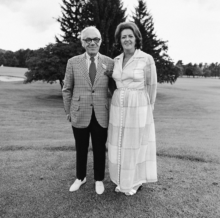Dad and Mom, Golf Course, Brookline, MA, 1972