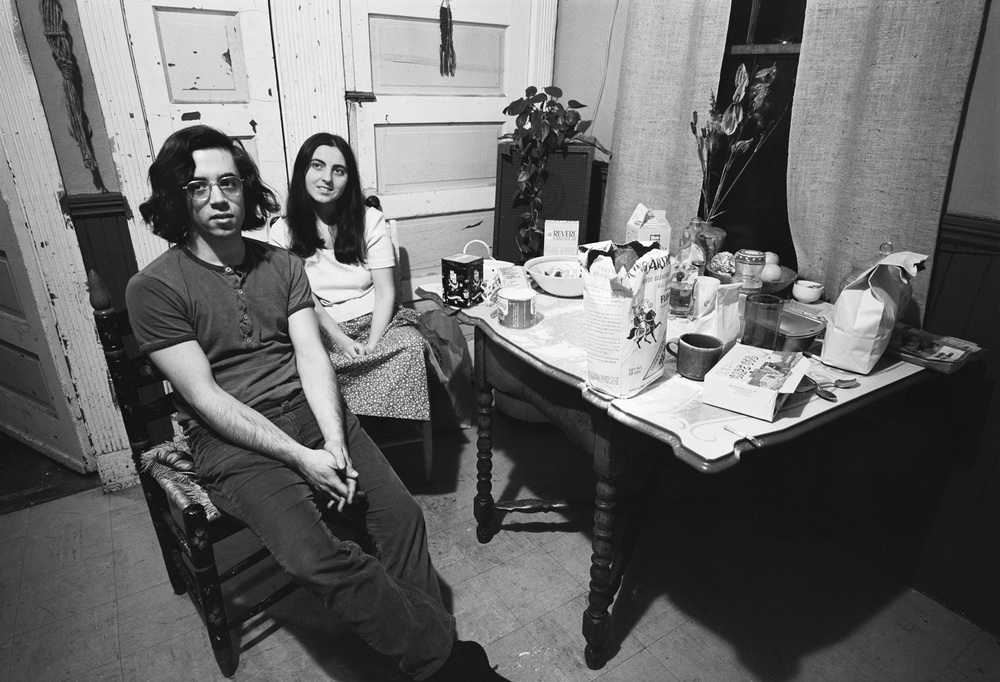 Self-Potrait with Mary, Kitchen, Cambridge, MA, 1972