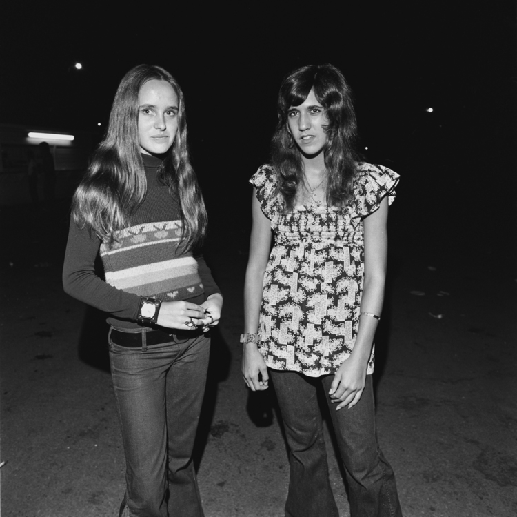 Anne and Jenny, Thompson Speedway, Thompson, CT, 1972