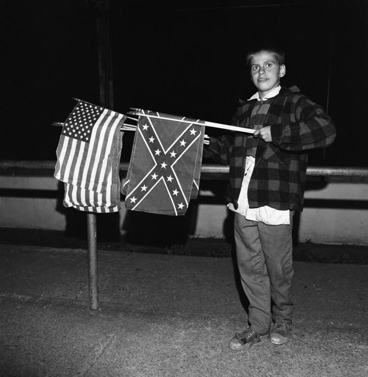 Boy With Flags, Thompson Speedway, Thompson, CT, 1972
