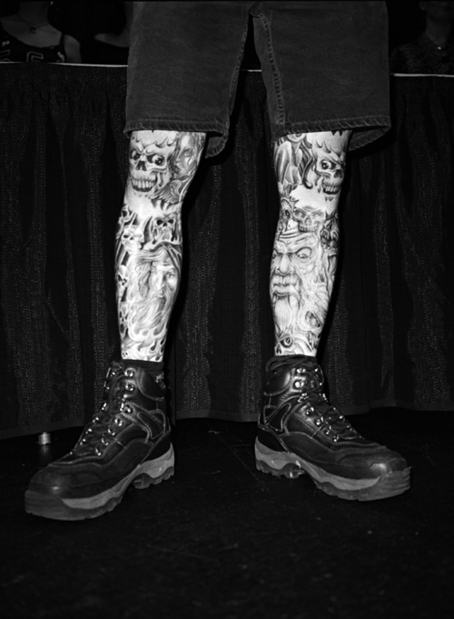 Tattooed Legs, National Sword Swallowing Competition, Wilkes Barre, PA, 2007