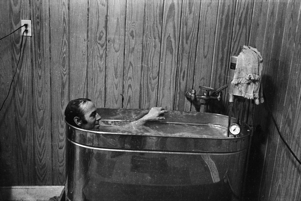 Jockey in Hot Tub, Fair Grounds, New Orleans, LA, 1977