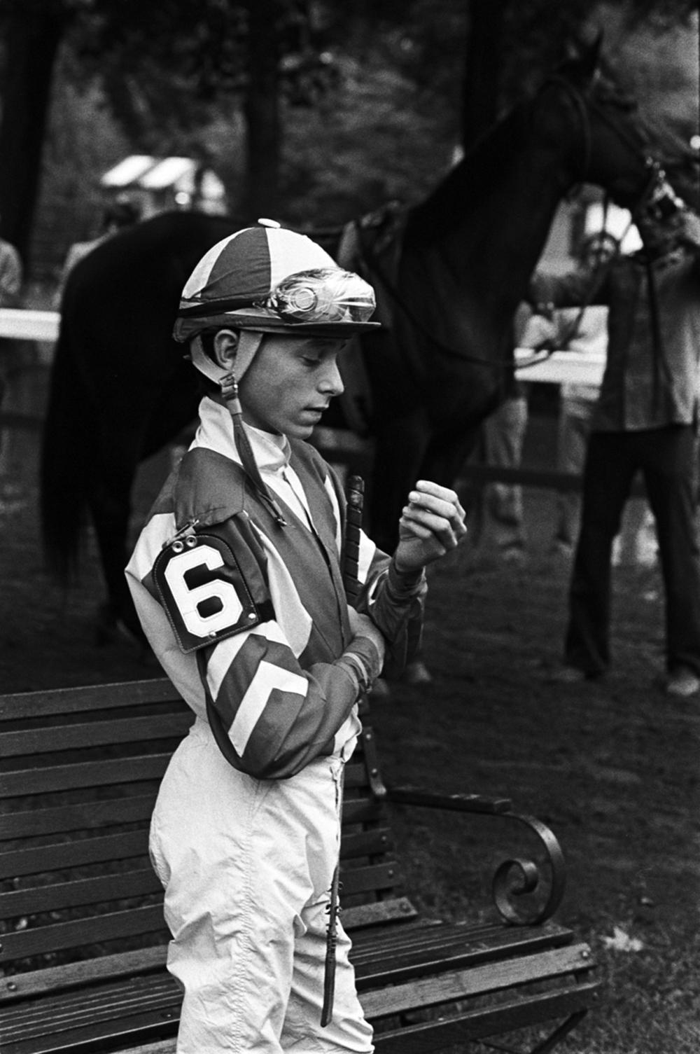 Steve Cauthen, Saratoga Race Course, Saratoga Springs, NY, 1977