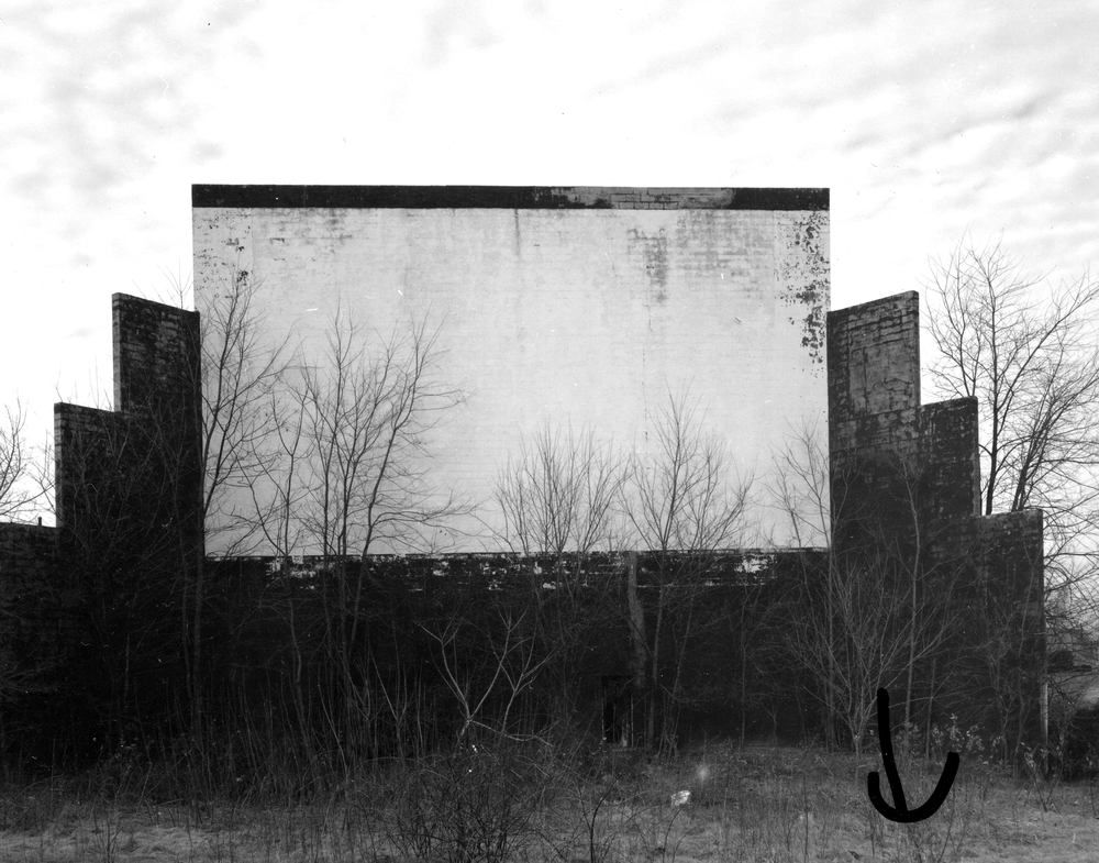 Abandoned Drive-In Movie Theater, Seekonk, MA, 1970