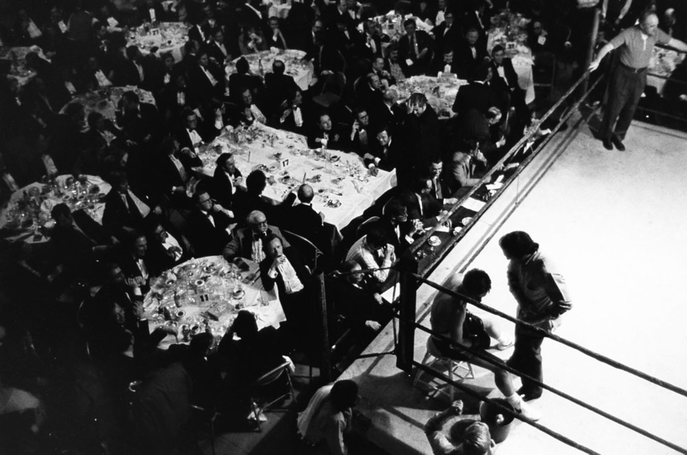 Boxing at the Harvard Club, Boston, MA, 1976