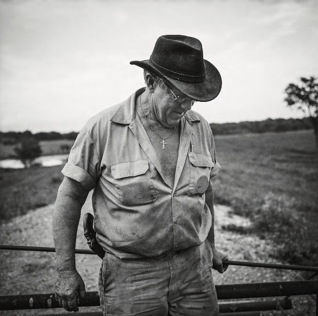 Gerald Walsh on His Farm, Marksville, Louisiana , 2009
