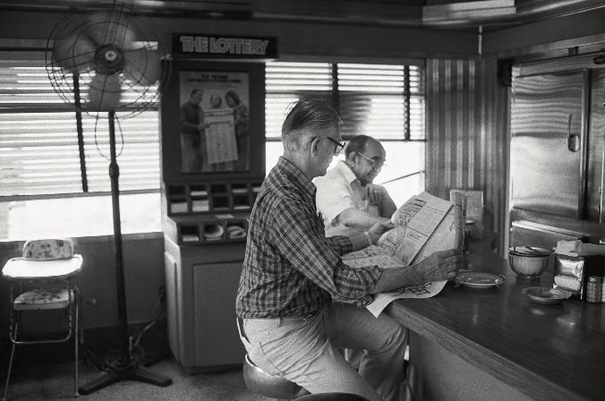 Counter, Al Mac's Diner, Route 6, Fall River, Massachusetts , 1985