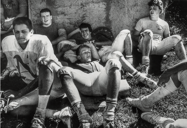 Natick Redhawks Take a Break, Natick, Massachusetts , 1987