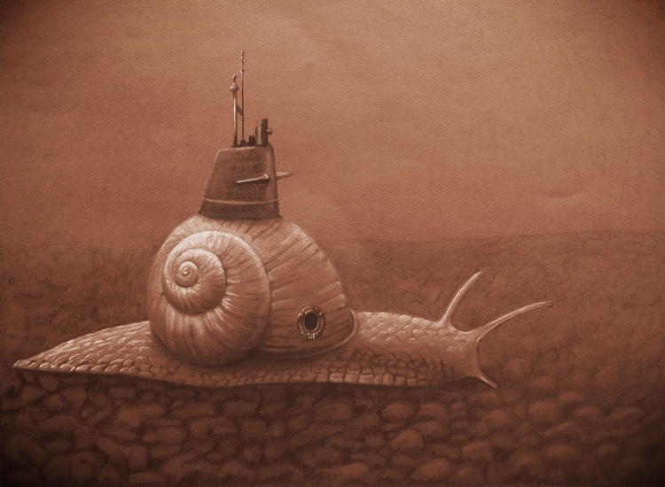 "Odyssey  24""x18"", Charcoal on toned paper, 2015"