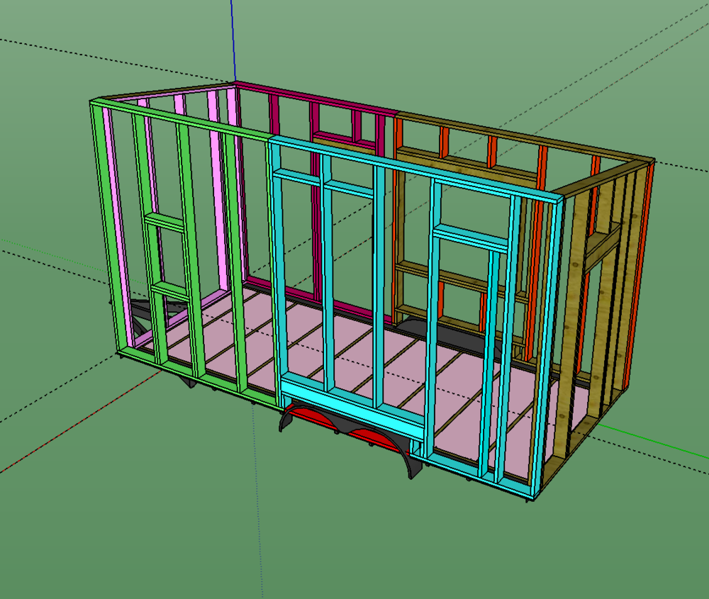 (Wall framing in Sketchup)