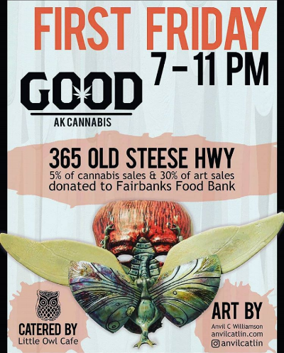 Featured Artist April 2018 - First Friday Opening April 6th 7pmGOOD AK Cannabis364 Old Steese, Fairbanks, AK 99701April 6 - 30, 2018Solo Exhibition